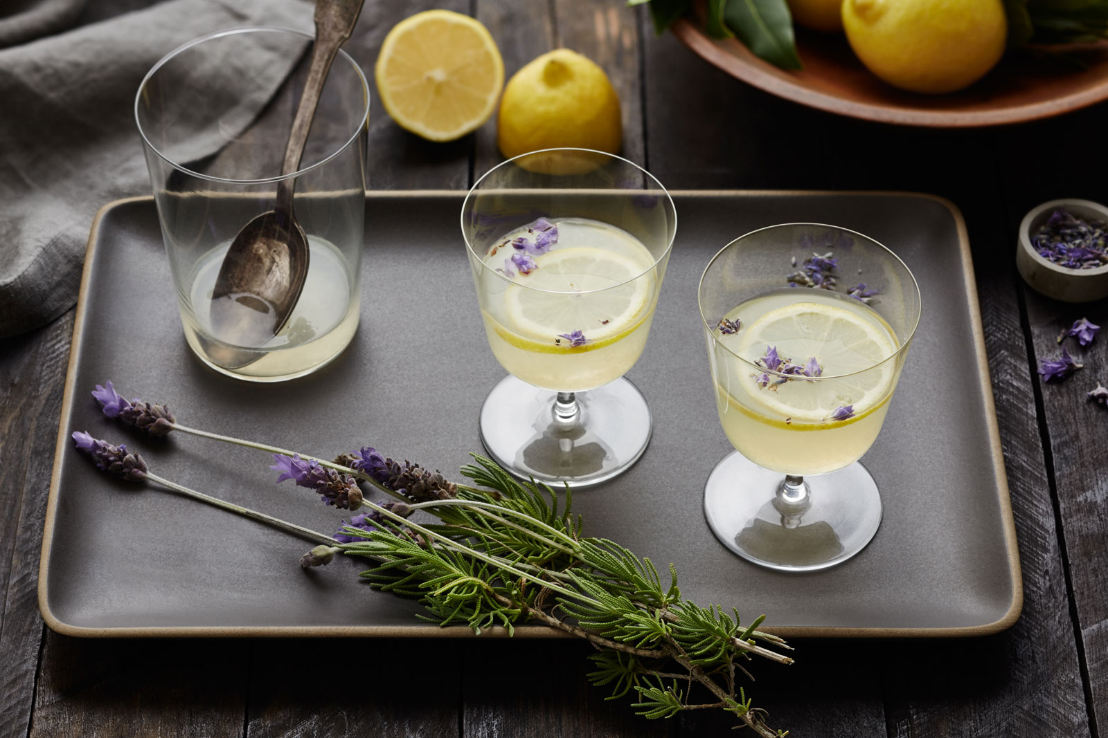 Lavender lemonade at Carneros Inn  | Trinette+Chris Photographers