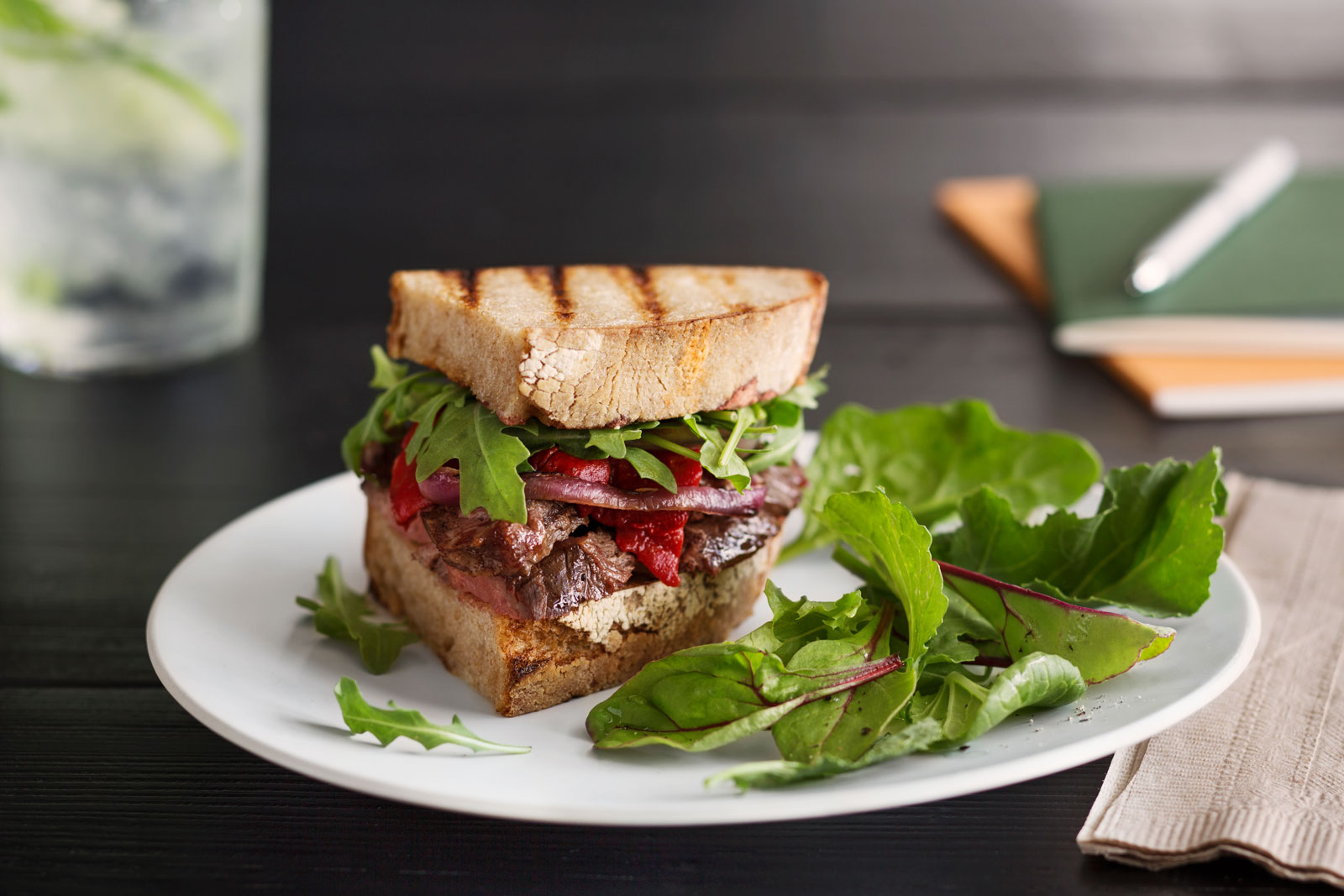 Steak Sandwich  | Trinette+Chris Photographers