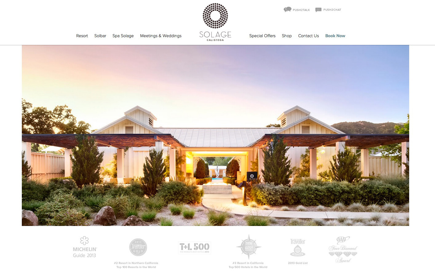 Solage Resort Website Napa  | Trinette+Chris Photographers