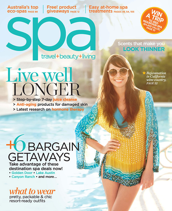 Spa Magazine Cover SolageSpa Magazine Miiamo Article  | Trinette+Chris Photographers