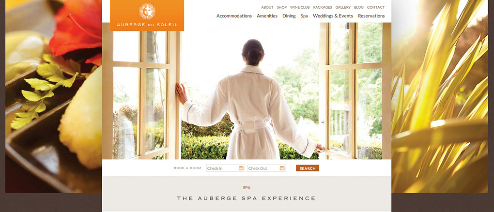 Auberge Du Soleil Website | Trinette+Chris Photographers