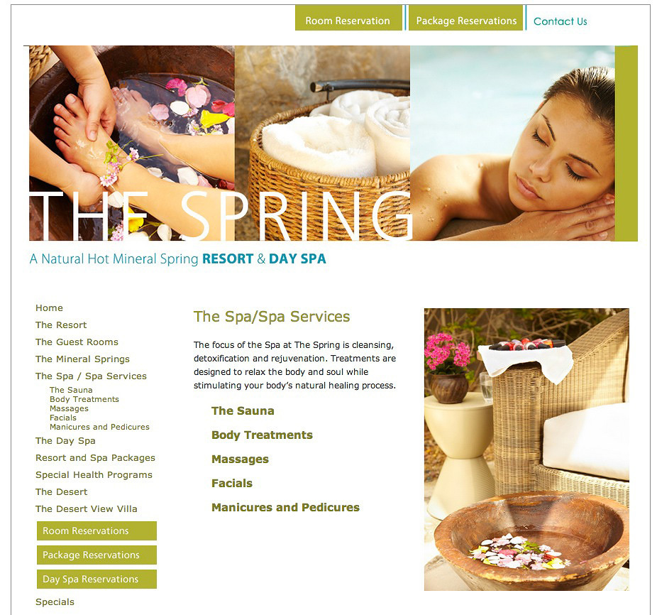 The Springs Resort Website  | Trinette+Chris Photographers