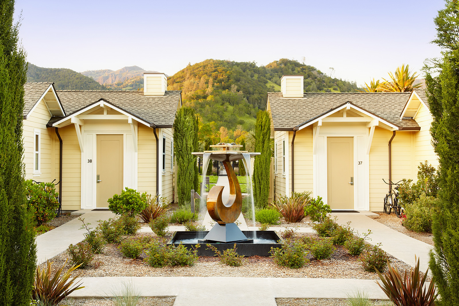Cottages at Solage Resort, Napa, CA  | Trinette+Chris Photographers