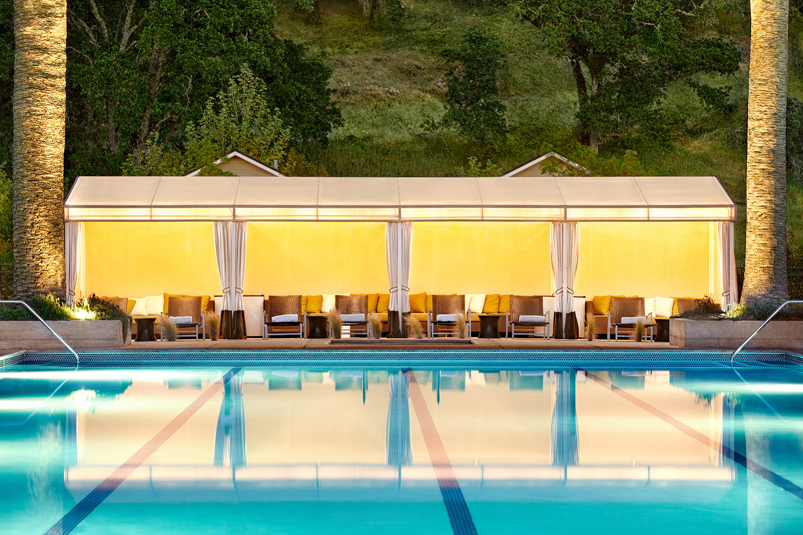 Pool Cabanas at Solage Calistoga, CA  | Trinette+Chris Photographers