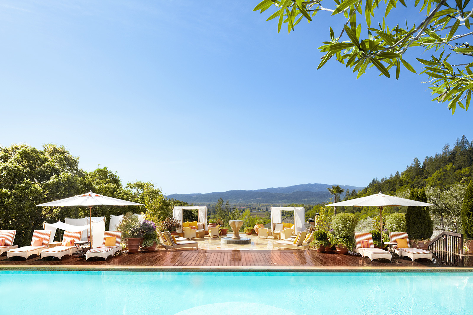 Pool at Auberge Du Soleil, Napa, CA  | Trinette+Chris Photographers