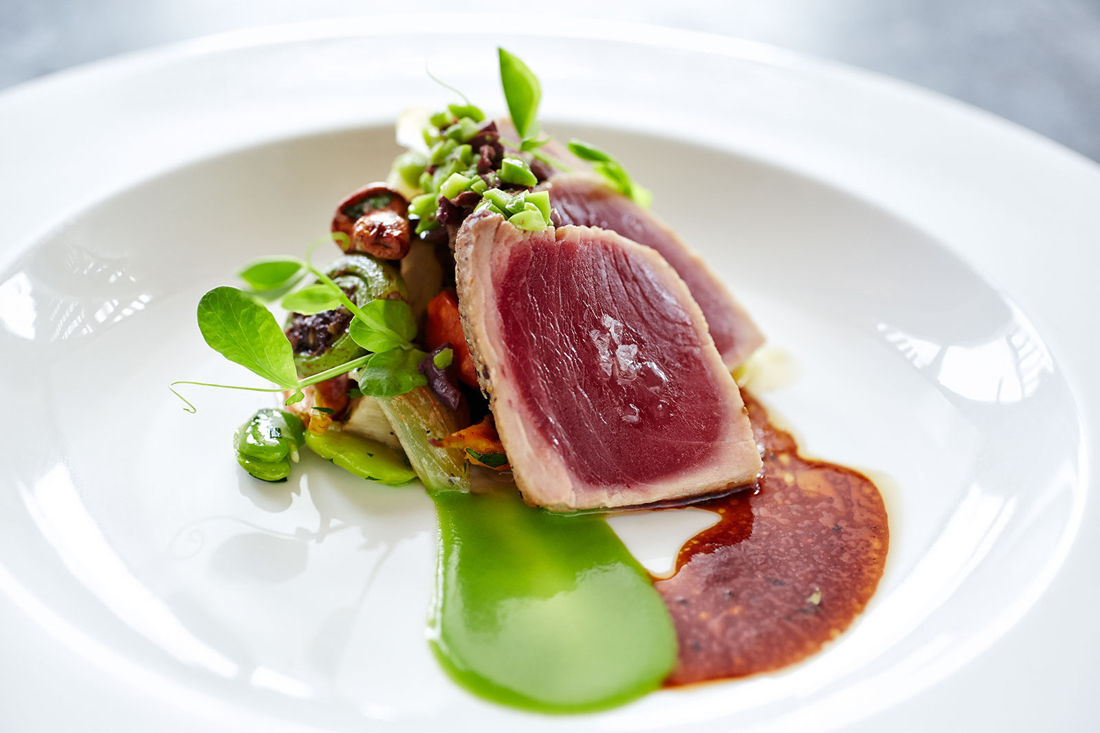 Tuna at Auberge Du Soleil, Napa, CA  | Trinette+Chris Photographers