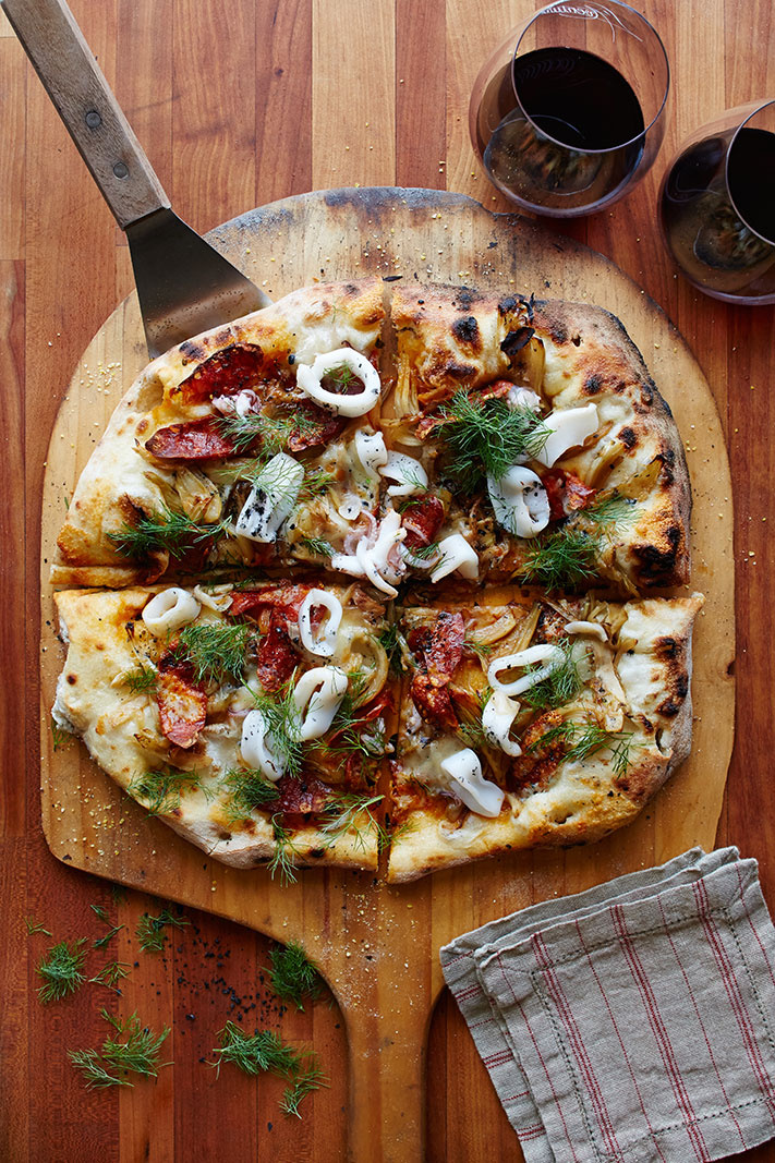 Pizza for Wine Enthusiast Magazine  | Trinette+Chris Photographers