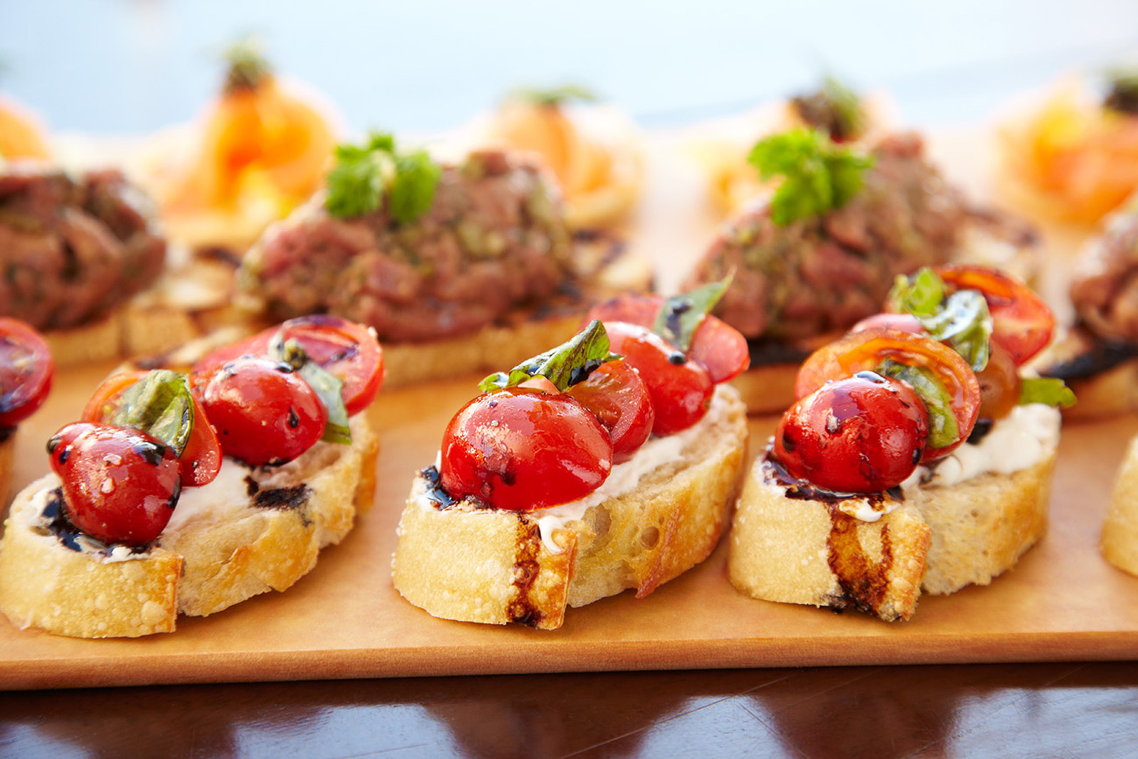 Bruschetta at Rancho Valencia  | Trinette+Chris Photographers