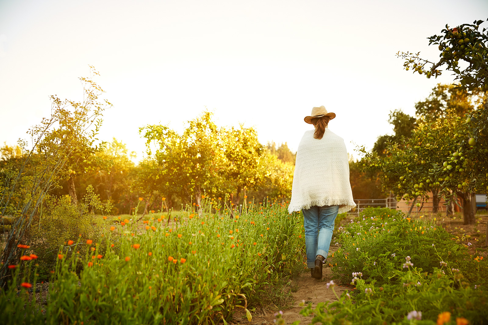 Woman at biodynamic farm in CA  | Trinette+Chris Photographers