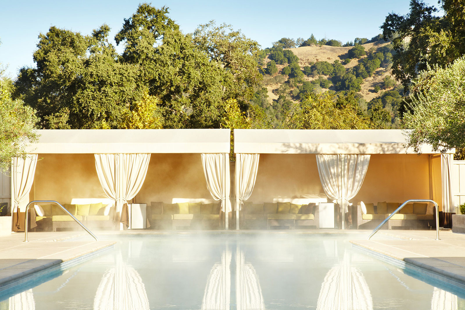 Spa pool at Solage Calistoga, Napa, CA  | Trinette+Chris Photographers