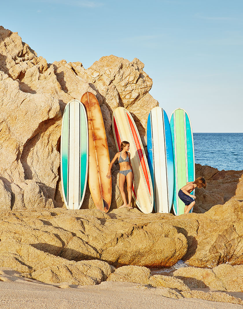 Surfboards at VieVage resort  | Trinette+Chris Photographers