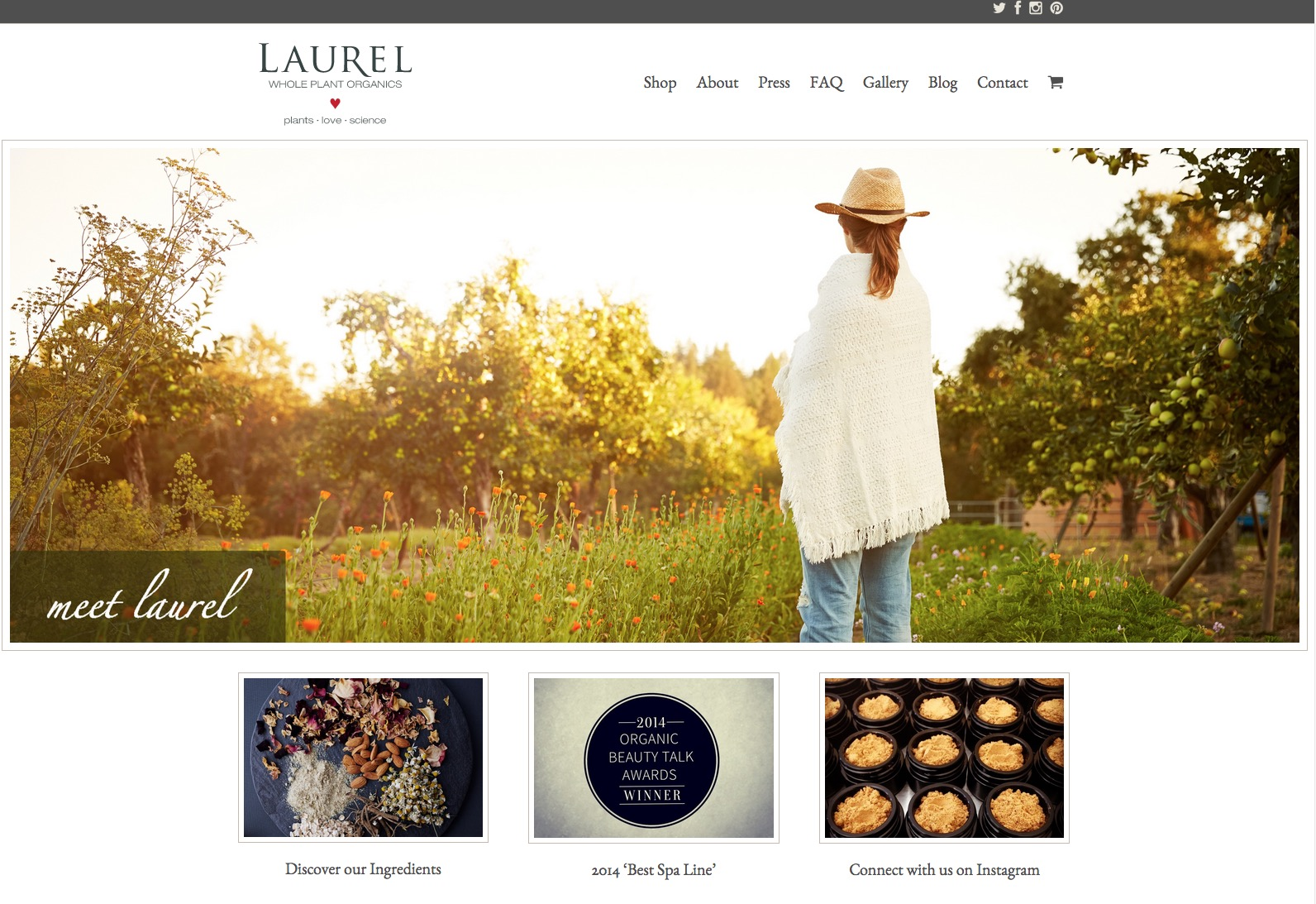 Laurel Whole Plant Skincare Website  | Trinette+Chris Photographers