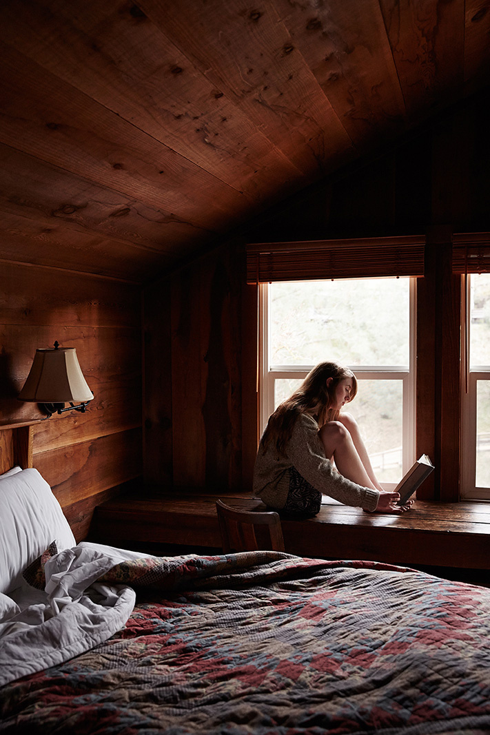 Woman in cabin at Wilbur Hot Springs  | Trinette+Chris Photographers