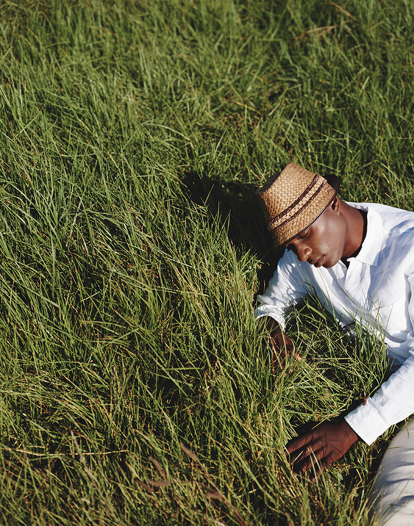 Man relaxing in grass in CA  | Trinette+Chris Photographers