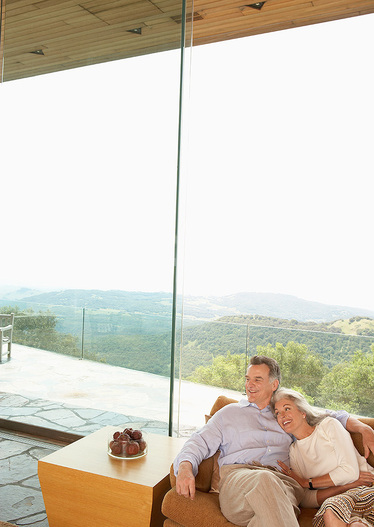 Mature couple in luxury home  | Trinette+Chris Photographers