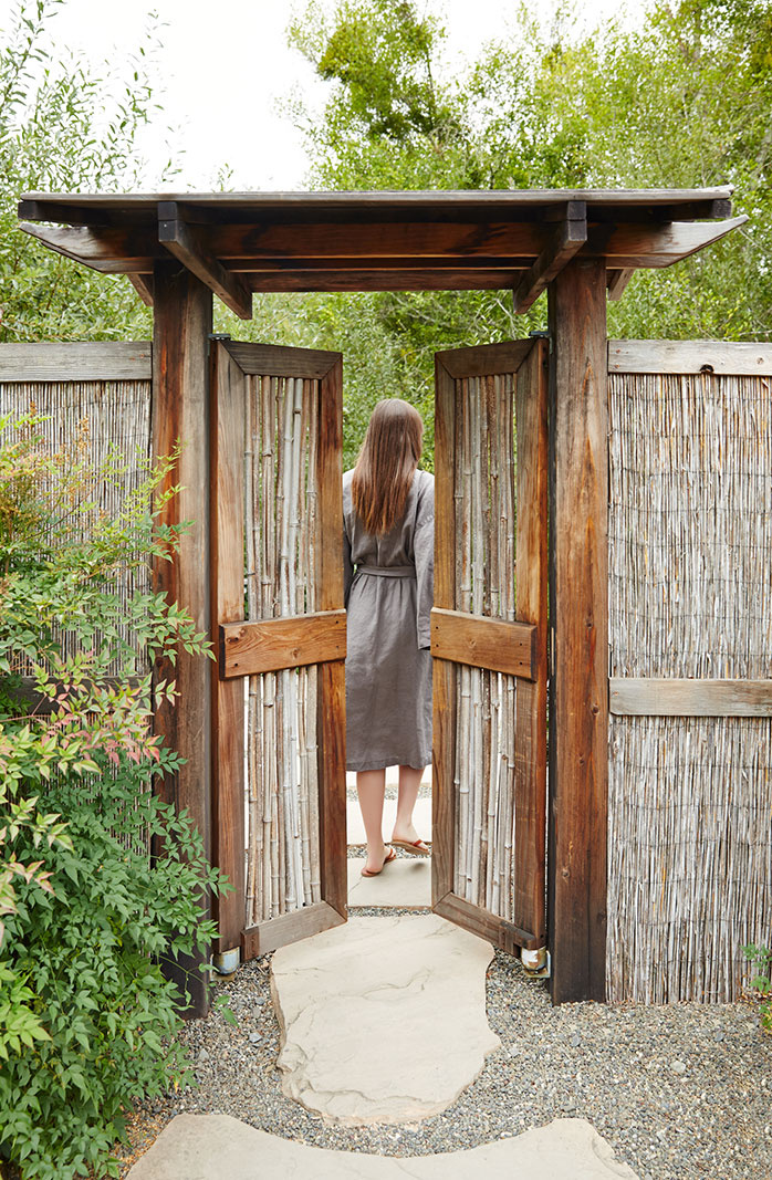 Gate at Osmosis Day Spa, CA  | Trinette+Chris Photographers