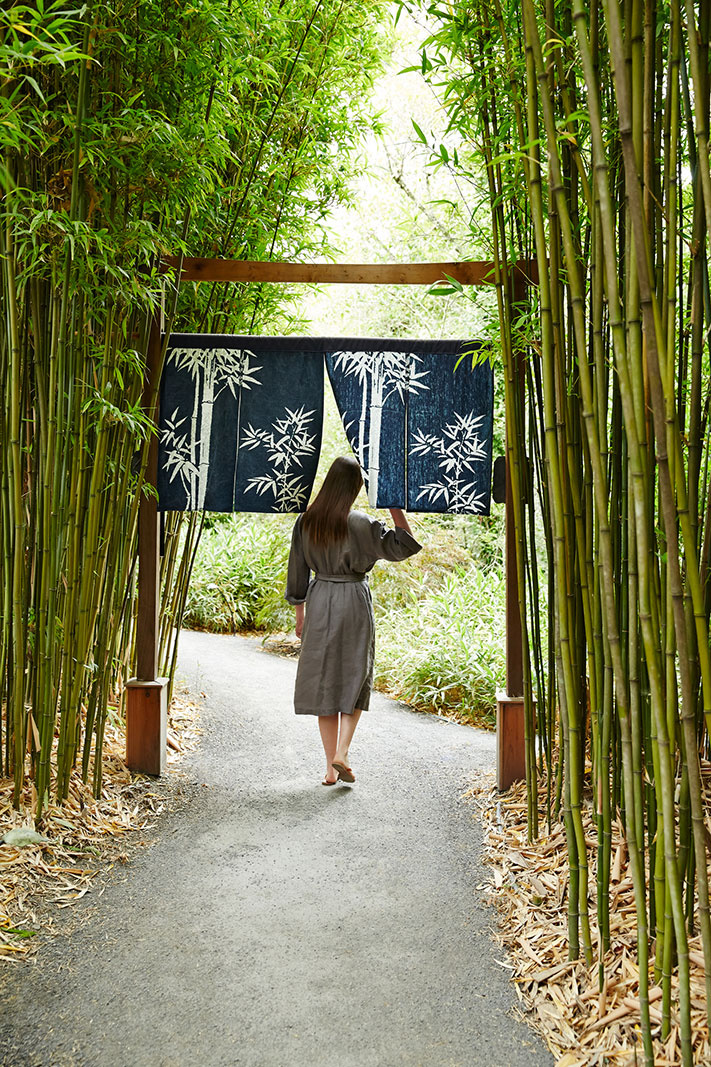 Pathway at Osmosis Day Spa, CA  | Trinette+Chris Photographers