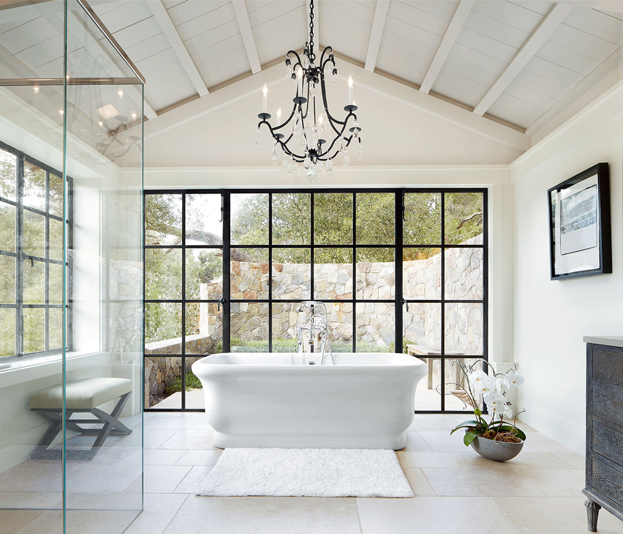Architecture image of bathroom  | Trinette+Chris Photographers