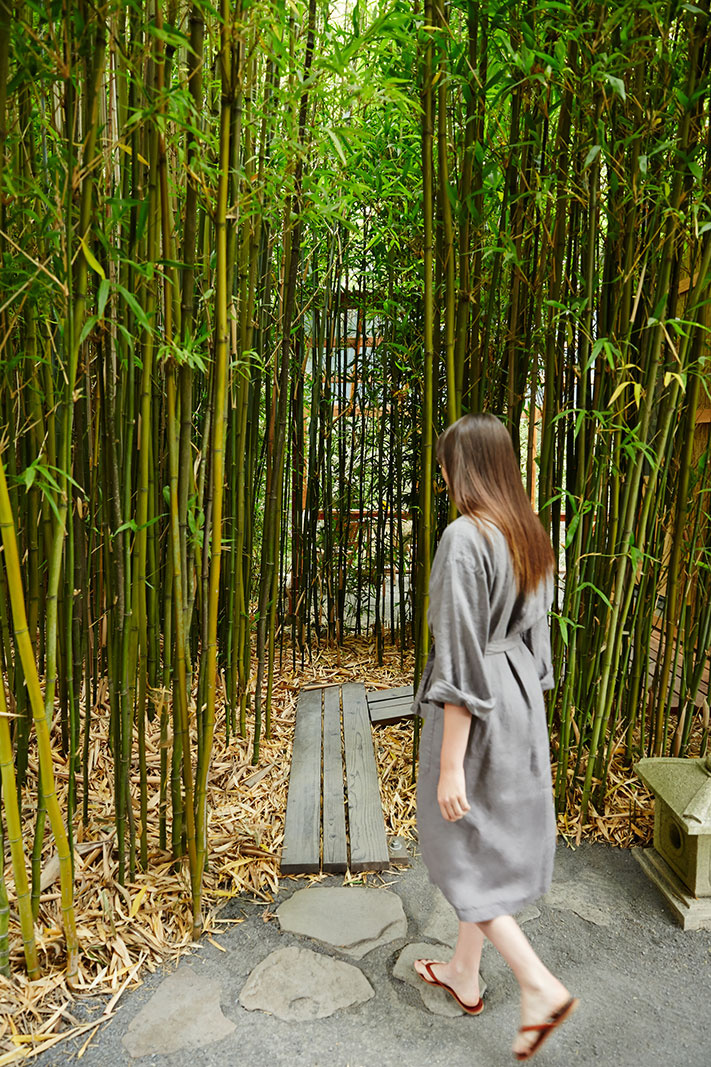 Bamboo at Osmosis Day Spa, CA  | Trinette+Chris Photographers