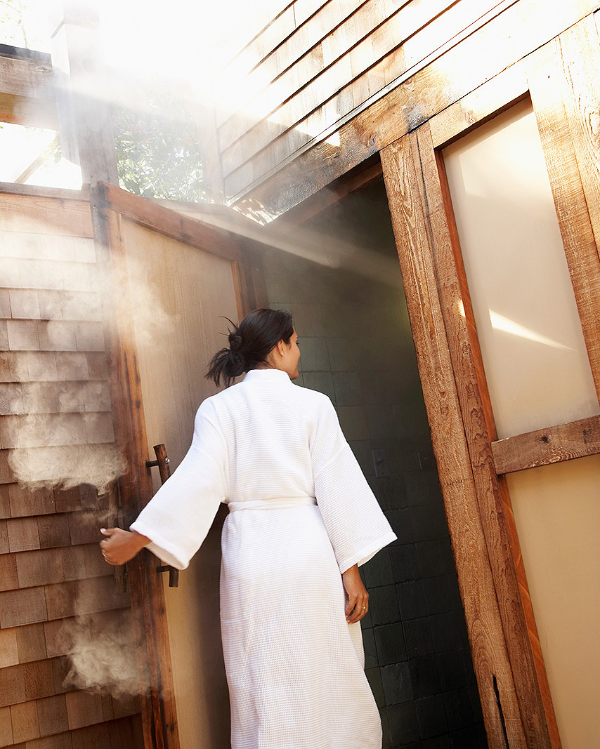 Steam room Calistoga Ranch Napa, CA  | Trinette+Chris Photographers