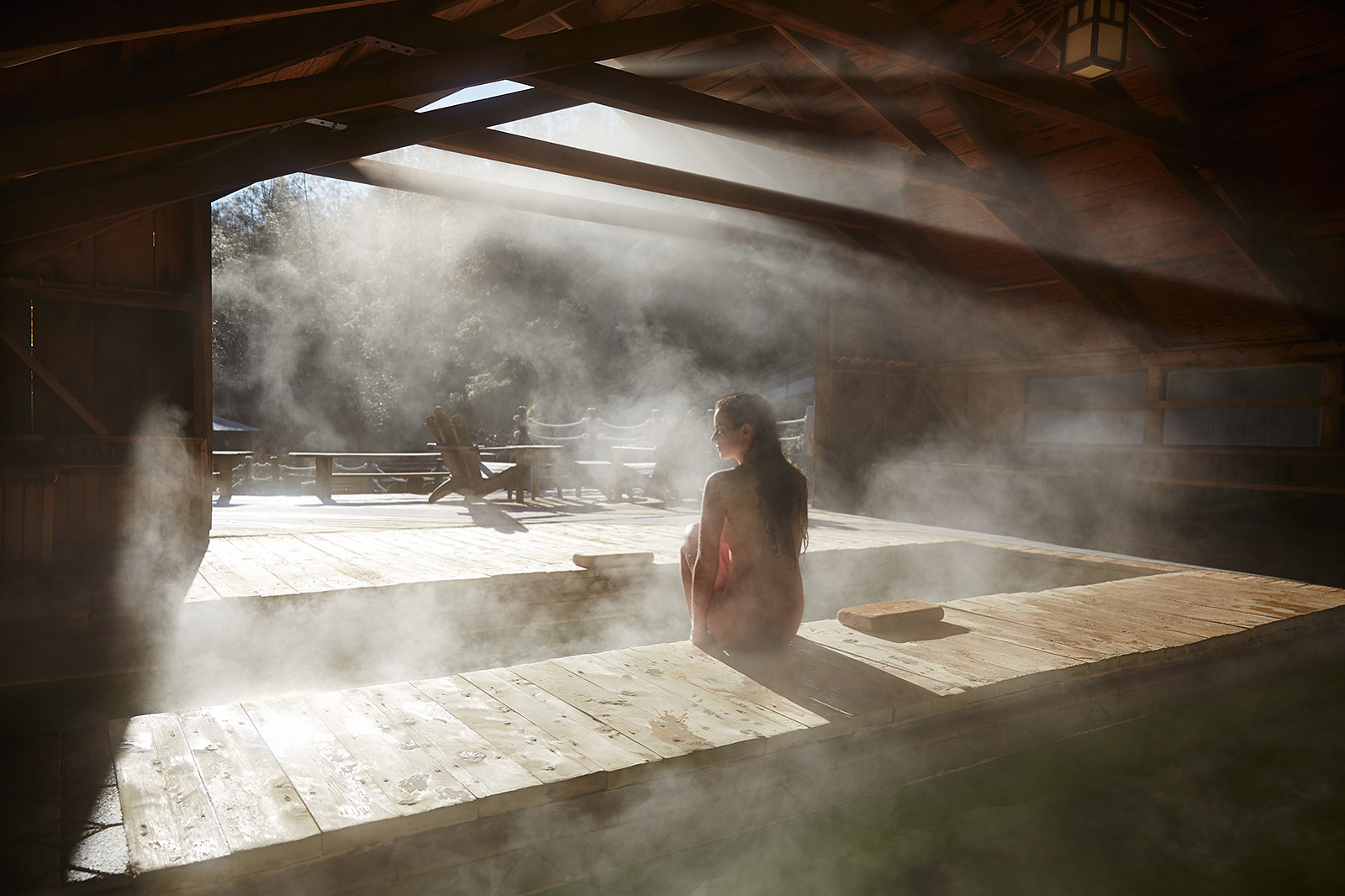 Woman at Wilbur Hot Springs, CA  | Trinette+Chris Photographers