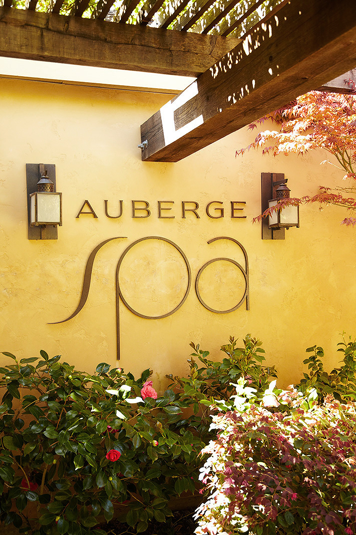 Auberge Du Soleil Spa Sign  | Trinette+Chris Photographers