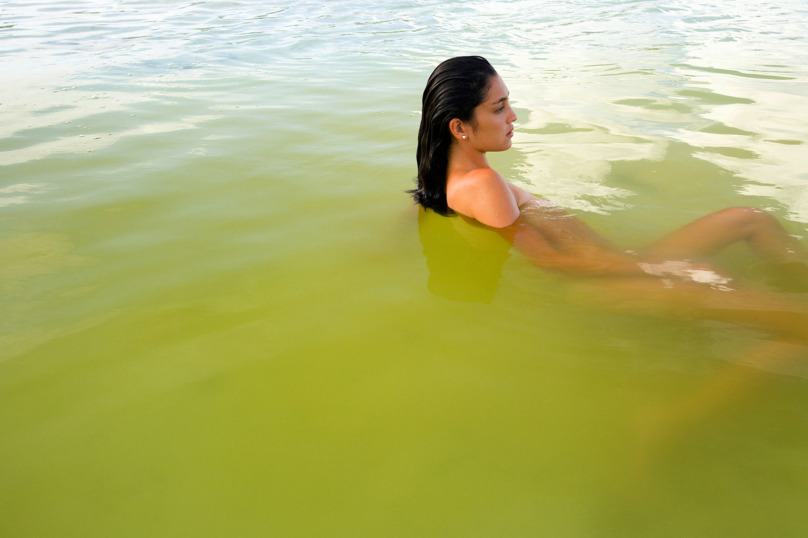 Woman in water at Le Taha