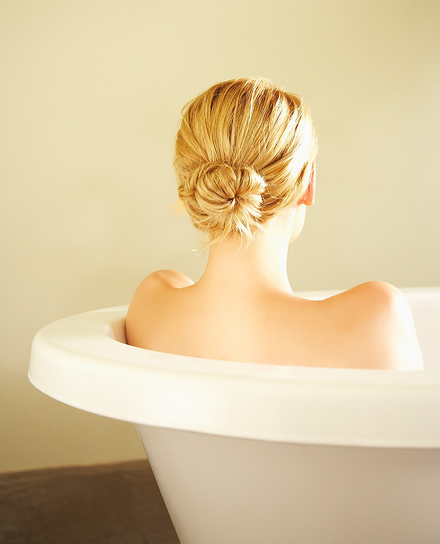 Spa bathtub at Solage resort, Napa, CA  | Trinette+Chris Photographers
