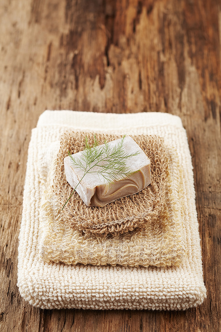 Spa still life of soap and towels  | Trinette+Chris Photographers