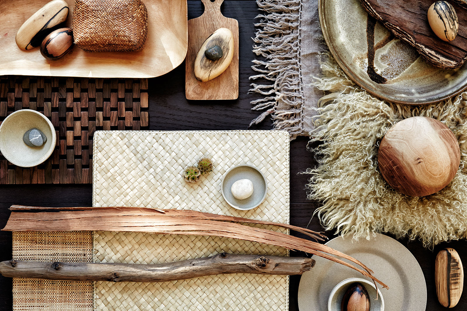 Still life of textures on wood  | Trinette+Chris Photographers
