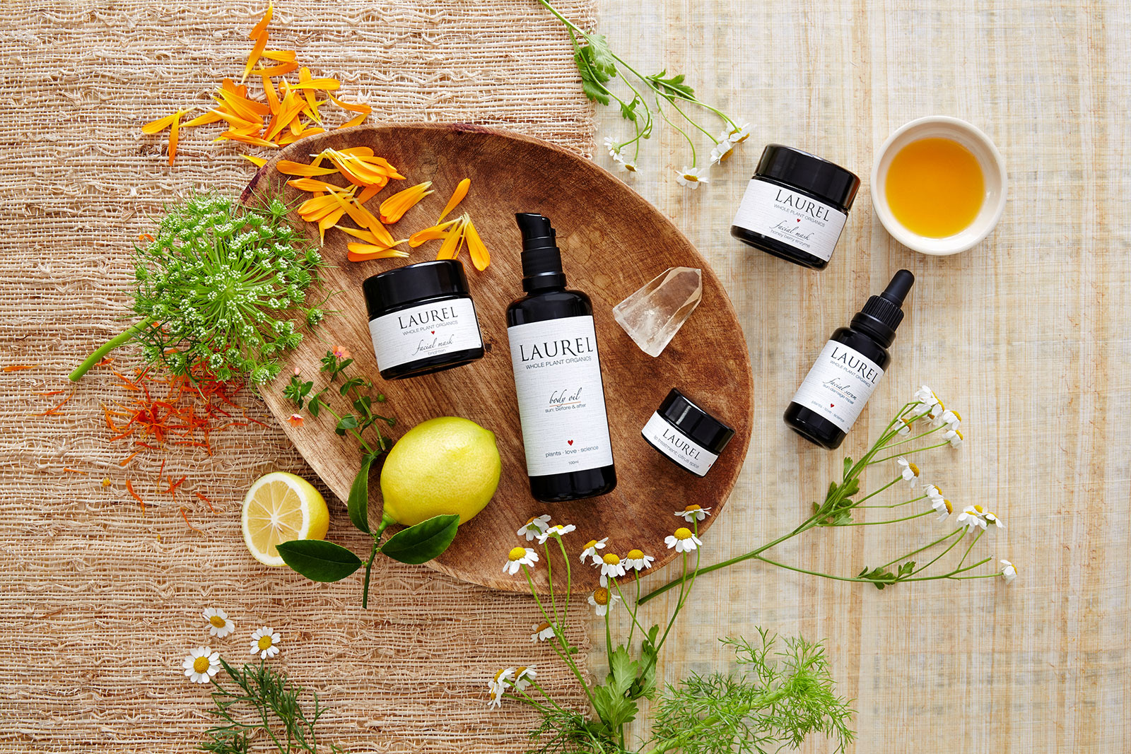Laurel Whole Plant Skincare Products  | Trinette+Chris Photographers