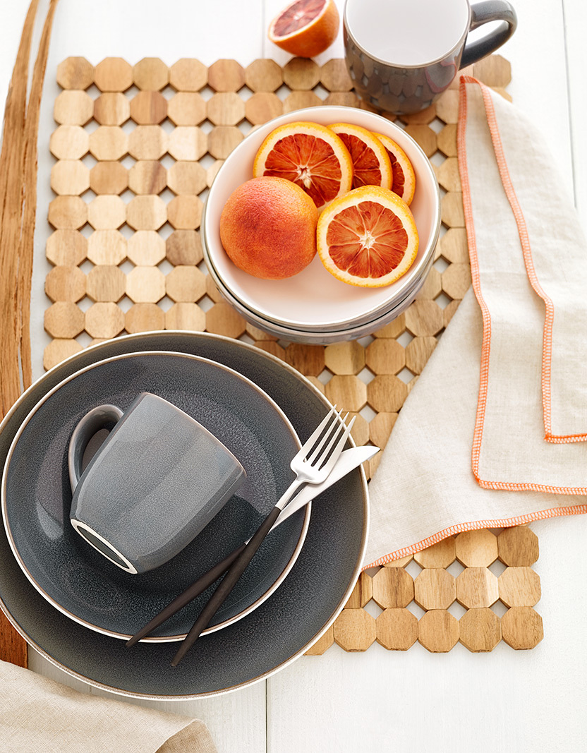 Thomson dinnerware still life  | Trinette+Chris Photographers