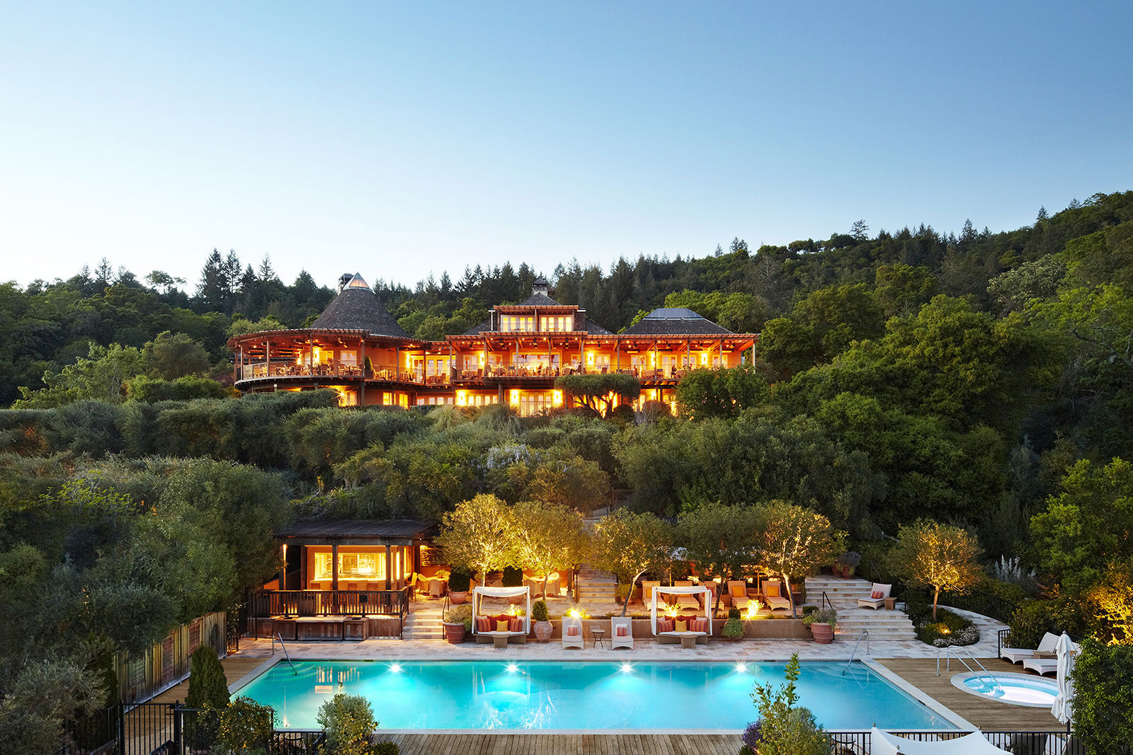 Architecture image of Auberge Du Soleil, Napa Valley, CA | Trinette + Chris Photographers