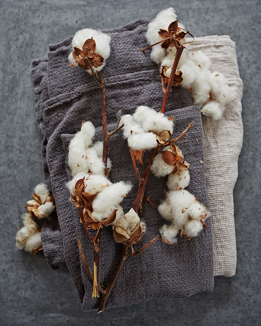 Fresh cotton and linen still life | Trinette + Chris Photographers